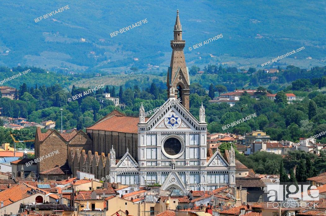 Stock Photo: Basilica of Santa Croce in Florence, Italy.