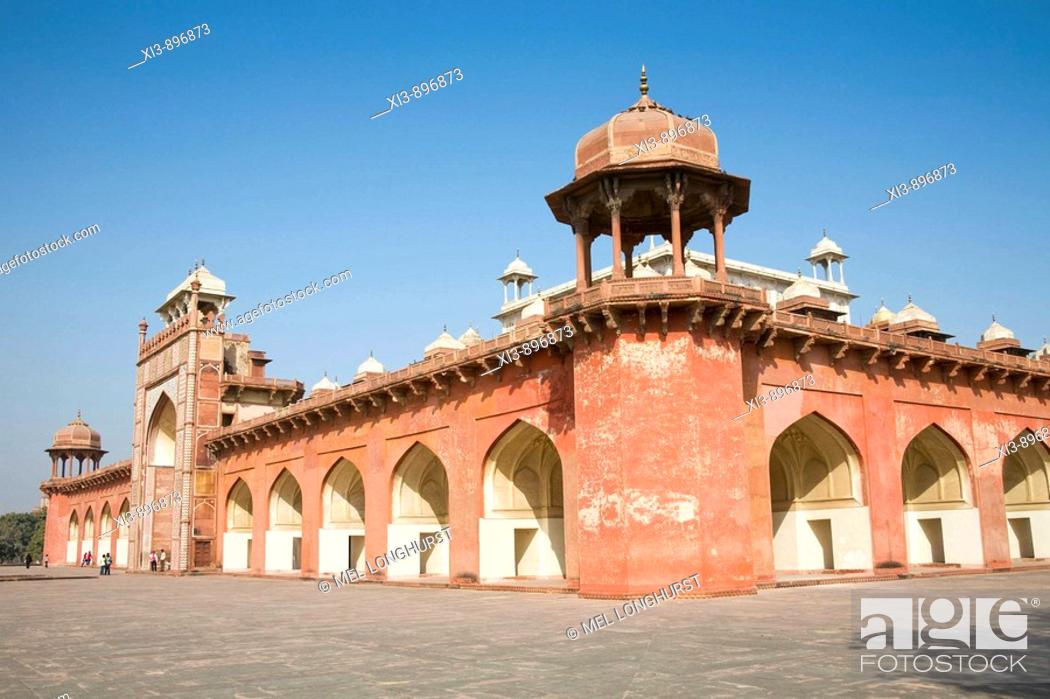 Stock Photo: Akbar's Mausoleum, Sikandra, near Agra, Uttar Pradesh, India.