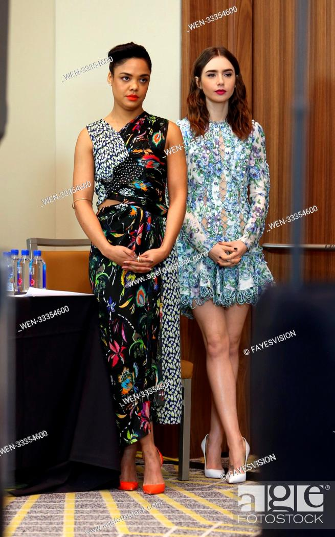 Stock Photo: 33rd Film Independent Spirit Awards Nominations Press Conference Featuring: Tessa Thompson, Lily Collins Where: West Hollywood, California.