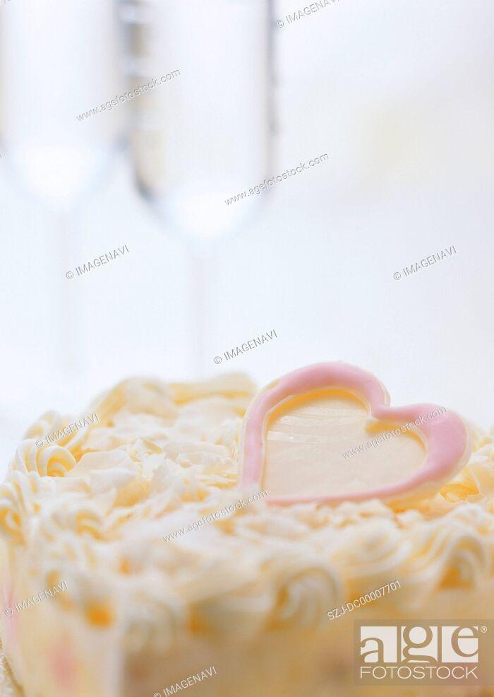 Stock Photo: Cake for White Day.