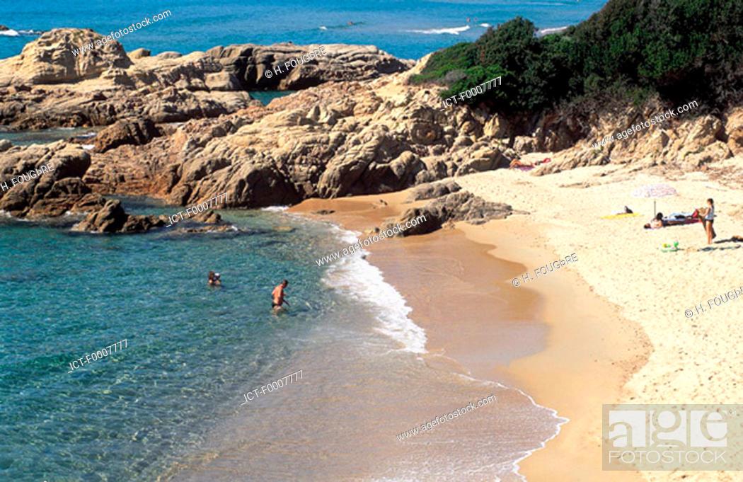 Stock Photo: France, Corsica, Sagone Beach.