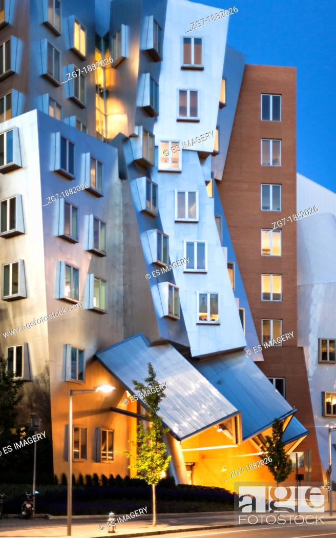 Stock Photo: Frank Gehry's Stata Center at the Massachusetts Institute of Technology.