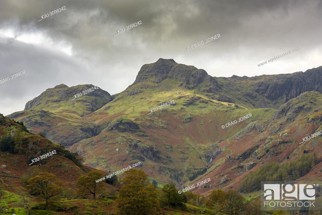Stock Photo: The Langdale Pikes in the Lake District National Park in Cumbria, England.