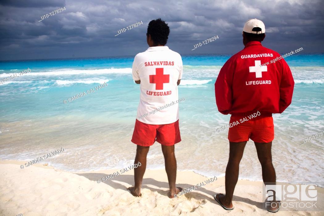 Stock Photo: Red, Cross, Red cross, Mayan Riviera, The Mayan Riviera, Aquamarine.