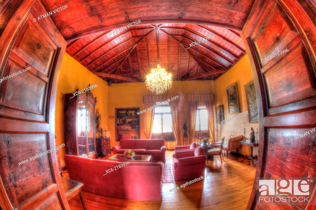 Stock Photo: Inside view Abaco Canarian mansion museum and restaurant in Puerto de la Cruz Tenerife island- spain.