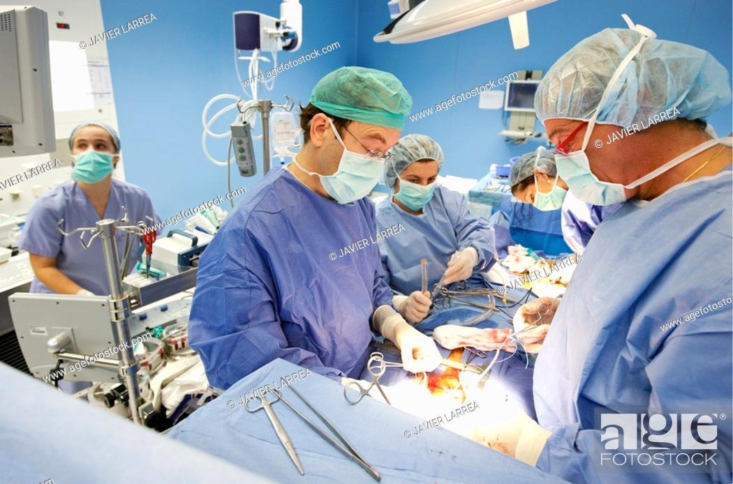 Imagen: Cardiology operating room, cardiovascular surgery, cardiac surgery. Hospital Policlinica Gipuzkoa, San Sebastian, Donostia, Euskadi, Spain.