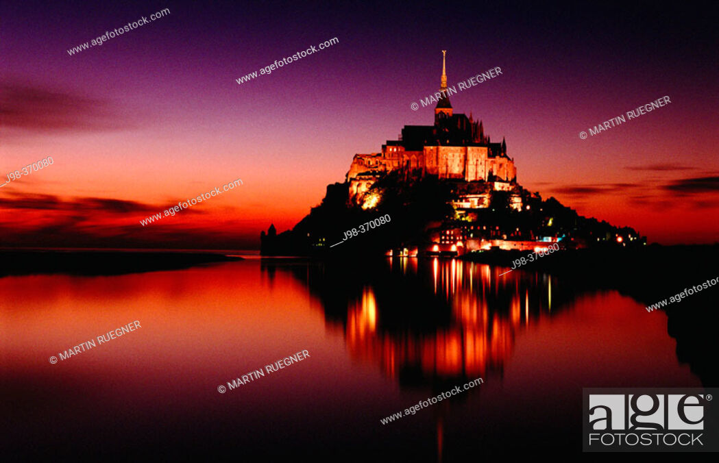 Stock Photo: Benedictine abbey at Mont-Saint-Michel. Manche. Normandy. France.