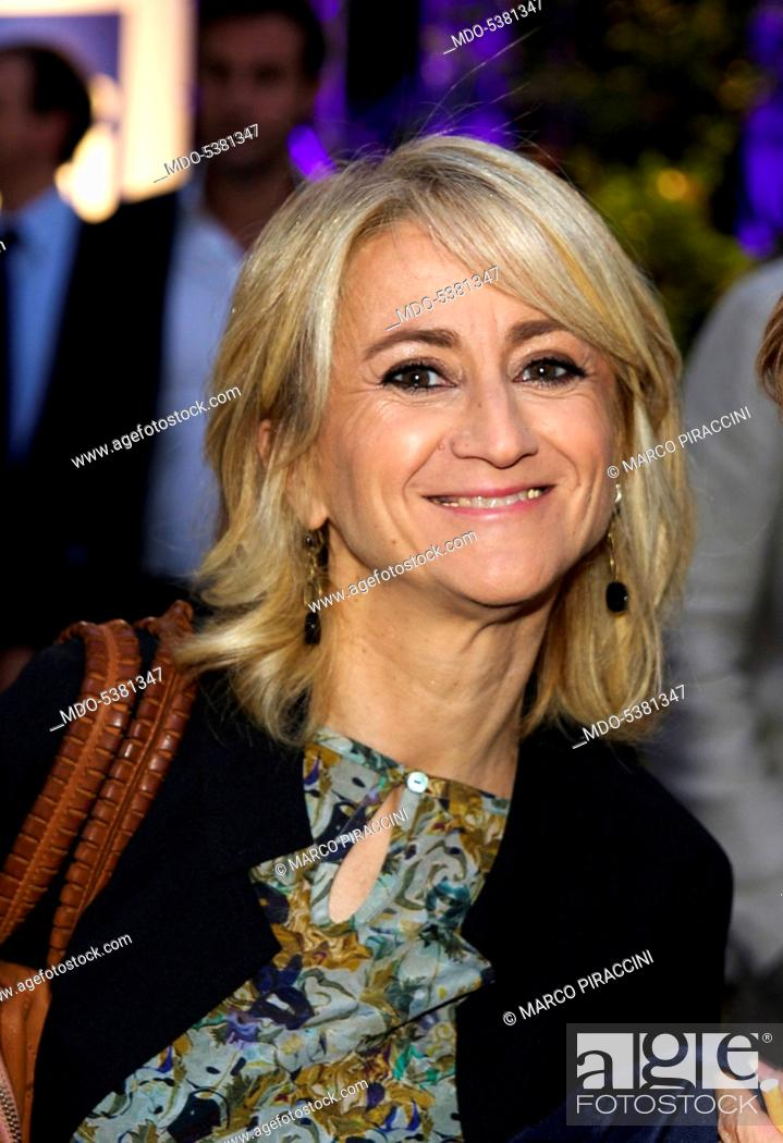 Imagen: The actress and comedian Luciana Littizzetto smiling. Milan, Italy. 27th June 2014.