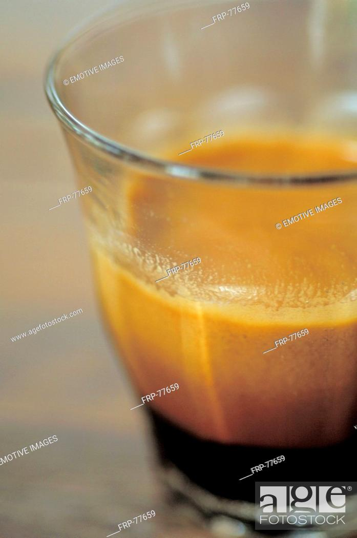 Stock Photo: Espresso with a lot of froth.