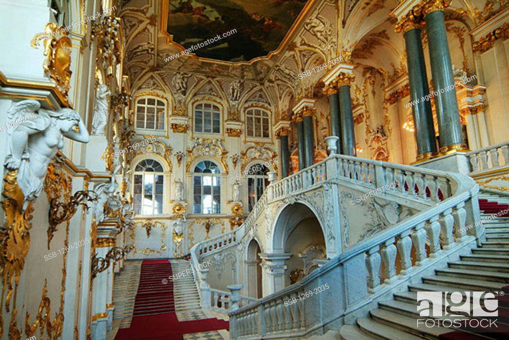 Stock Photo: State Hermitage Museum St. Petersburg Russia.