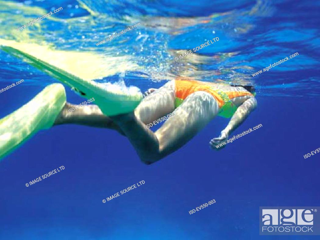 Stock Photo: Snorkeling.