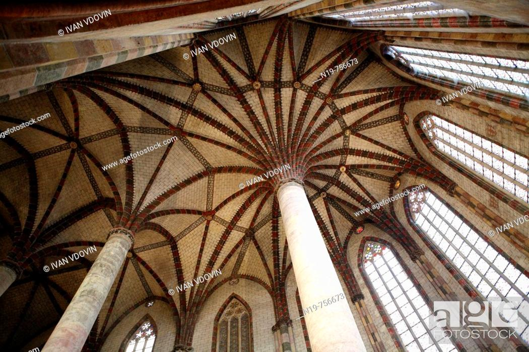 Stock Photo: Church of the Jacobins, Toulouse, France.