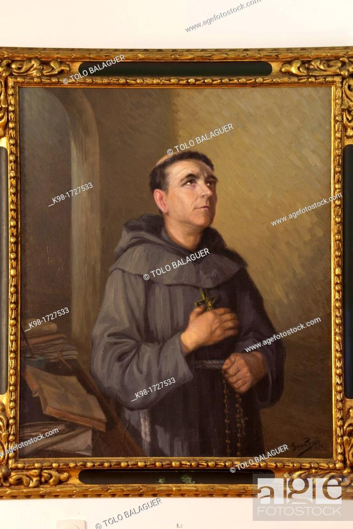 Stock Photo: Juan Piza, Oil on canvas, Junipero Serra Museum, Petra, Mallorca, Balearic Islands, Spain.