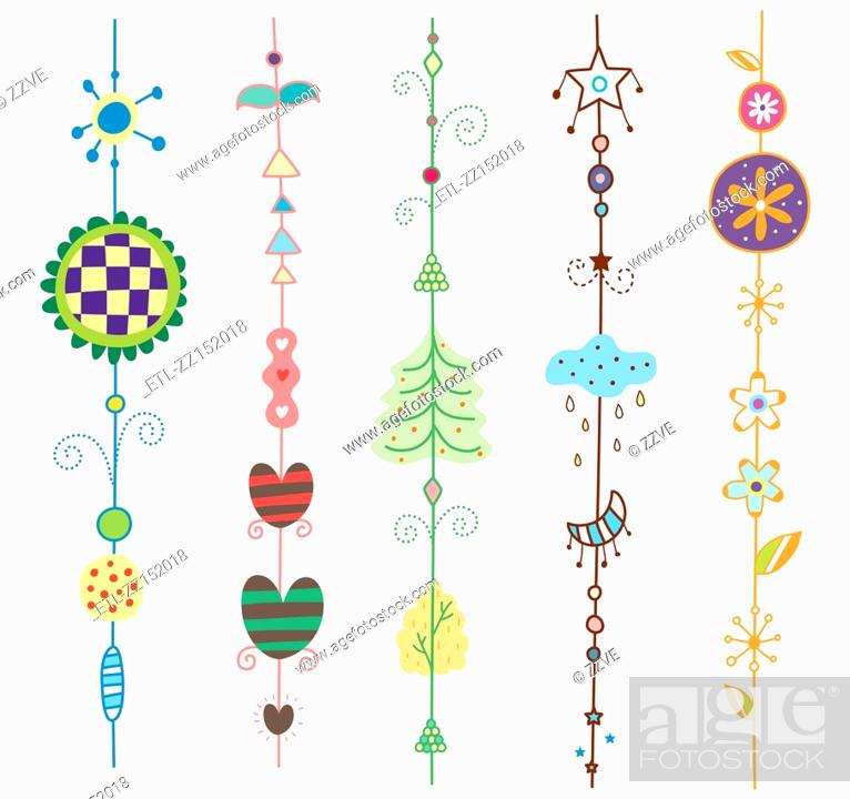 Stock Photo: Close-up of ornaments.