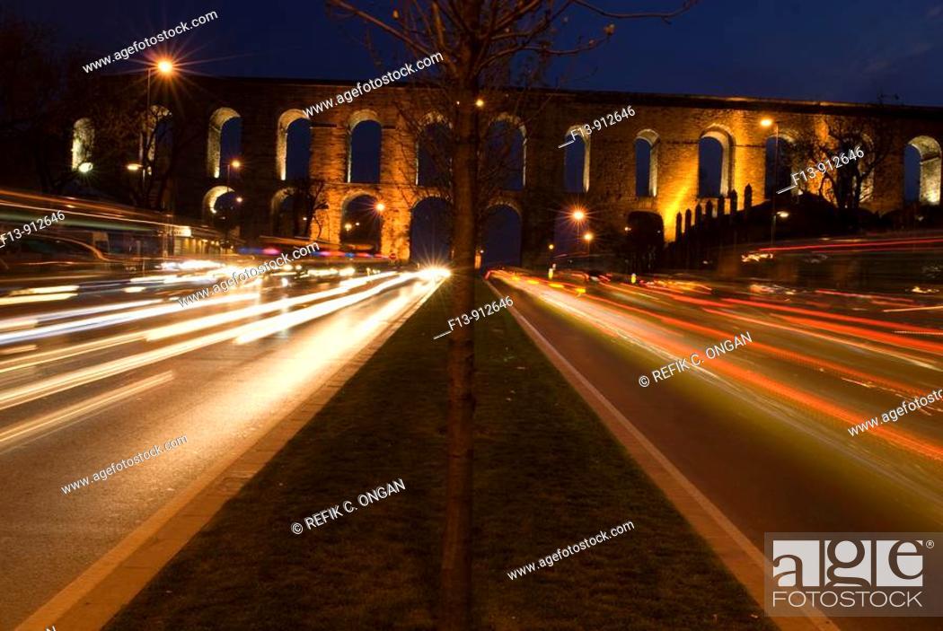 Stock Photo: aqueduct in istanbul.