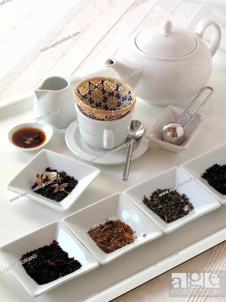 Stock Photo: Tea and infusions.