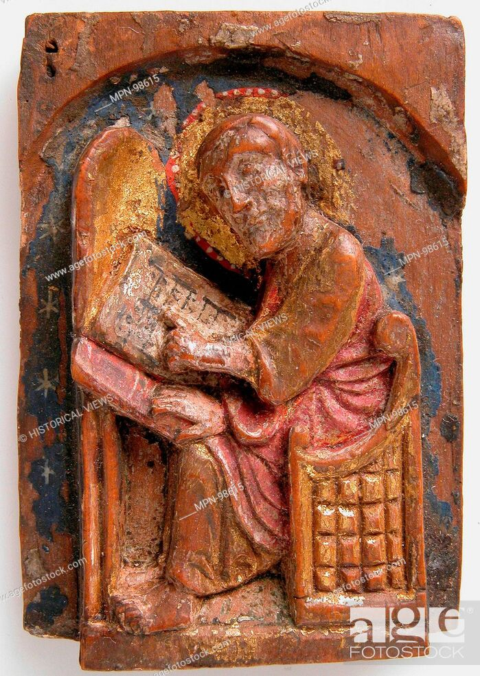 Miniature Relief of an Evangelist at His Writing Table (John, Luke