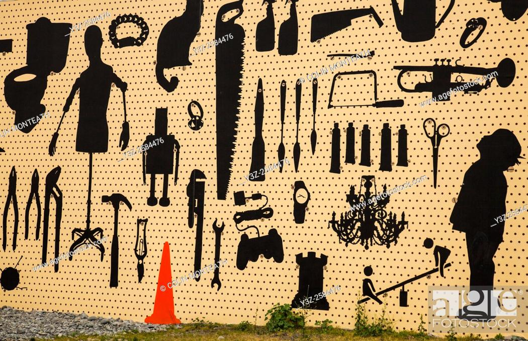Imagen: Mural painted after earthquake, Sydenham, Christchurch.