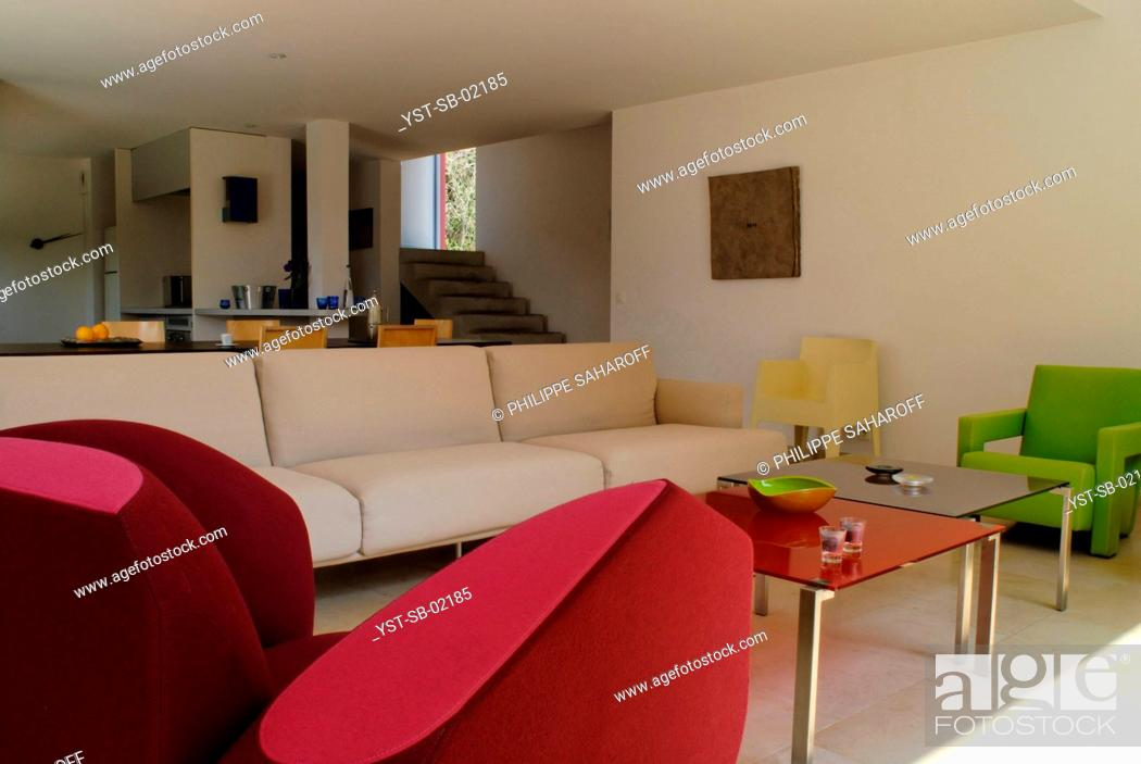 Stock Photo: Living Room, Nîmes, France.