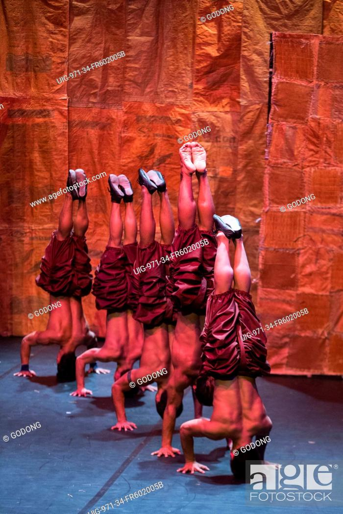 Stock Photo: 'Influence' show by Phare Ponleu Selpak Cambodian circus in Meudon, France.