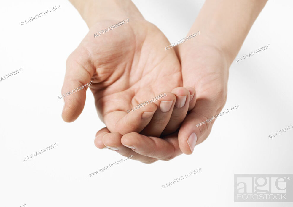 Stock Photo: Cupped hands.