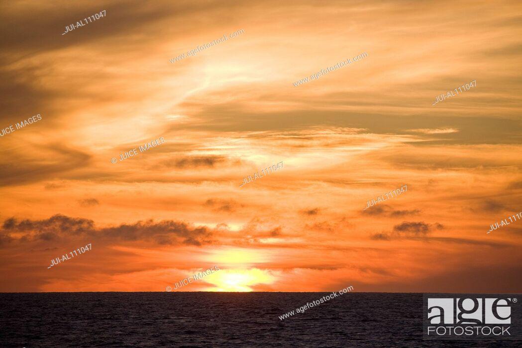 Stock Photo: Sunset at Bahia Magdalena, Baja California Sur, Mexico.
