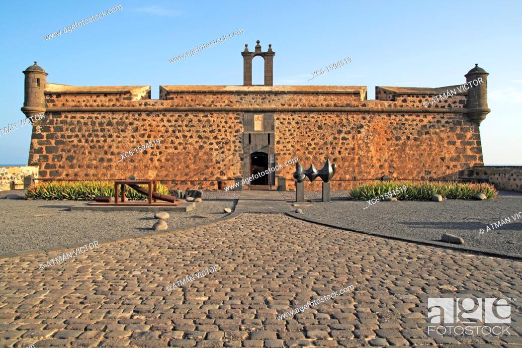 Stock Photo: Castle of San José, Arrecife, Lanzarote, Canary Islands, Spain.