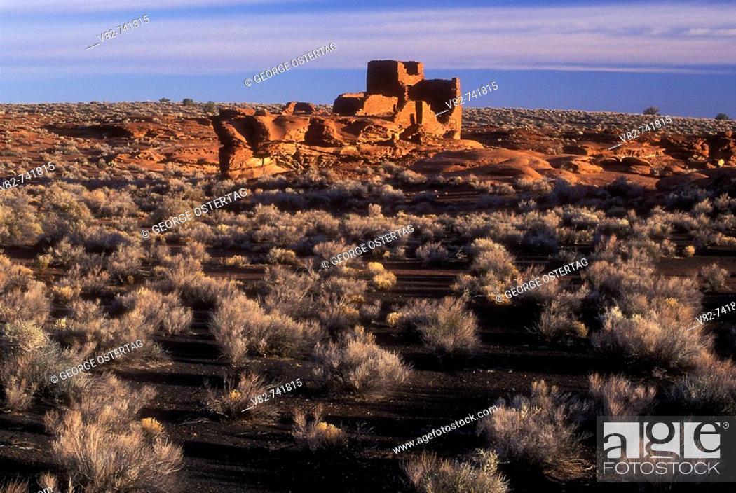 Stock Photo: Wukoki Pueblo ruin, Wupatki National Monument, Arizona, USA.