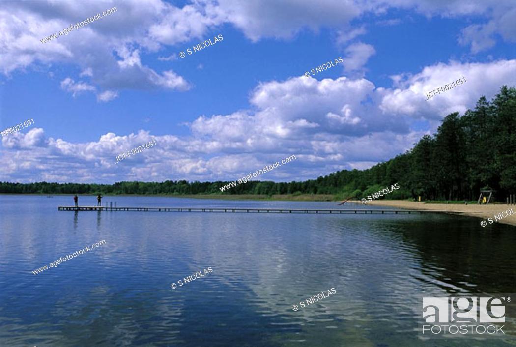 Stock Photo: Estonia, lake of Kuremaa.