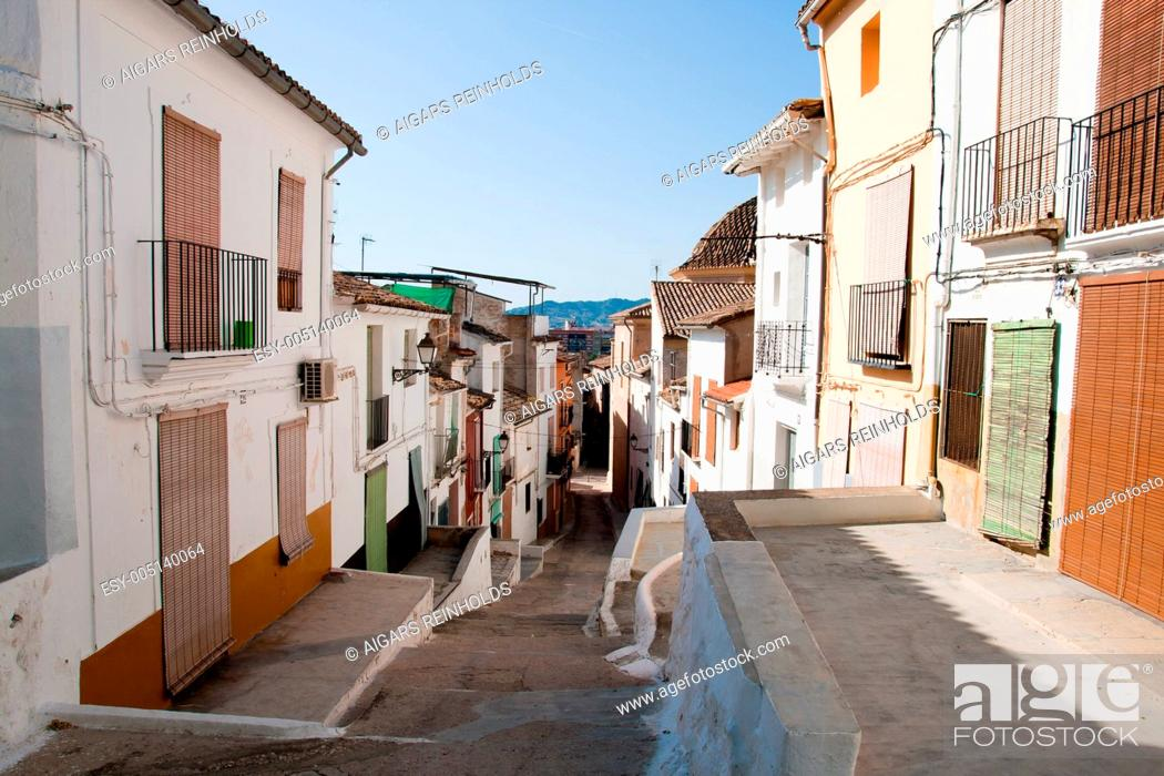 Stock Photo: View of Sagunto historic town in Spain.