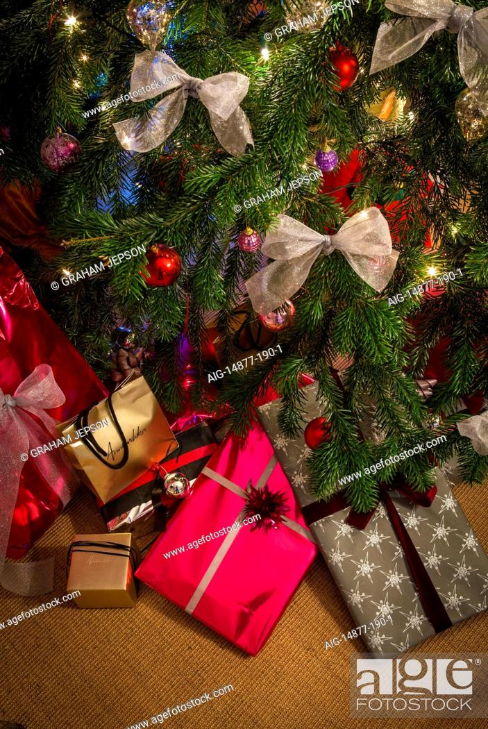 Christmas Presents Under Tree.Christmas Presents Under Tree In Chichester Home England