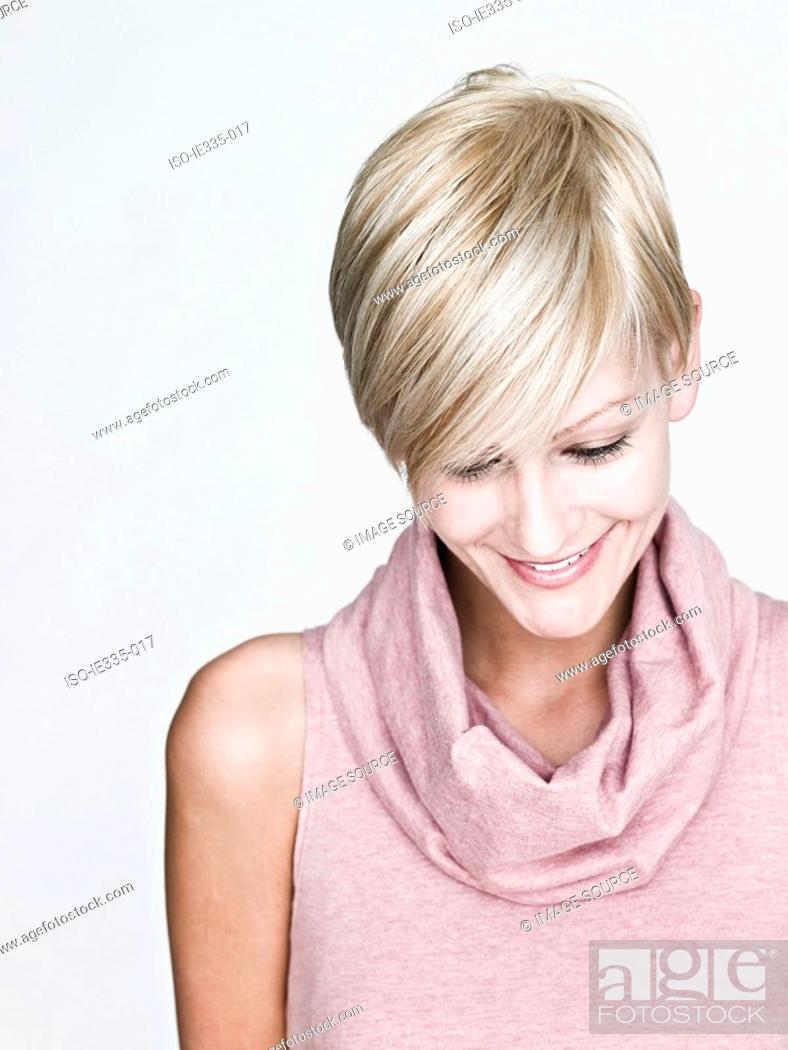 Stock Photo: Young woman with blond hair.