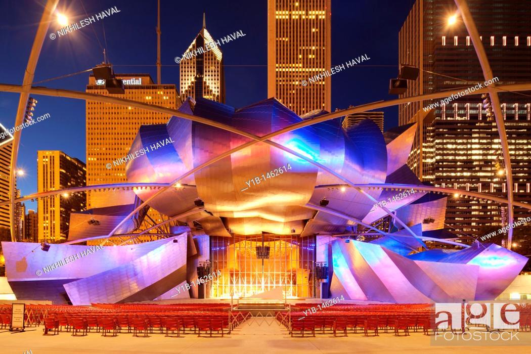 Stock Photo: Jay Pritzker Music Pavilion, Chicago, Illinois.