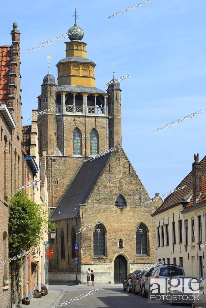 Stock Photo: Belgium, Bruges, World Heritage Site, Jerusalem church.
