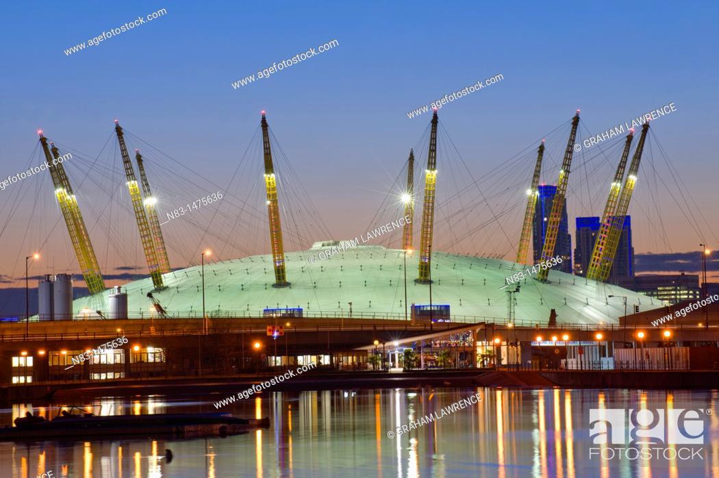 Stock Photo: O2 Arena, London Docklands, London, UK, Europe.