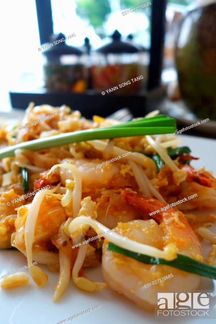 Stock Photo: Traditional Thai Fried Noodles or Thai name is Pat Thai.