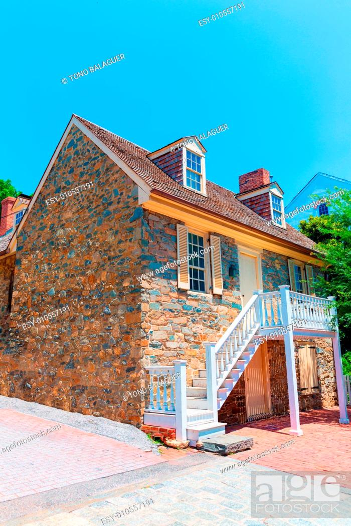 Stock Photo: Georgetown Old Stone House in Washington DC USA.
