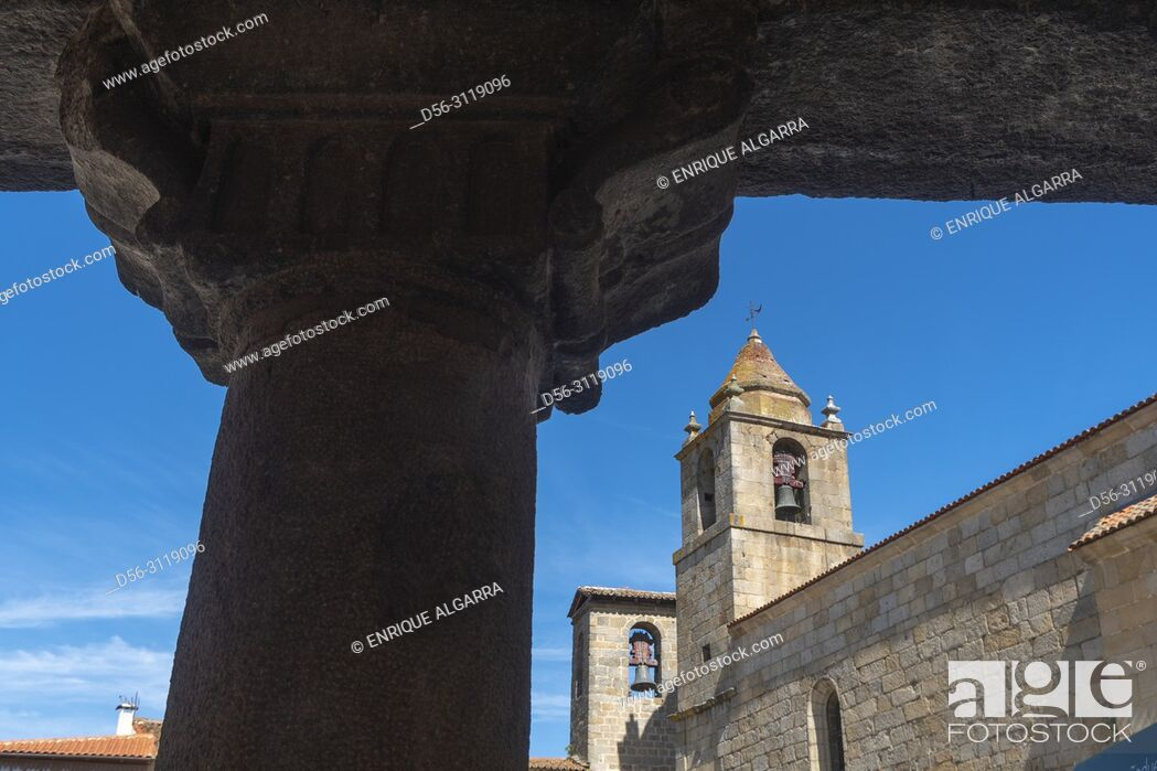 Imagen: Sixteenth-century Gothic church, San Felices of Gallegos, Natural Park Arribes del Duero, Salamanca, Castilla y Leon, Spain, Europe.