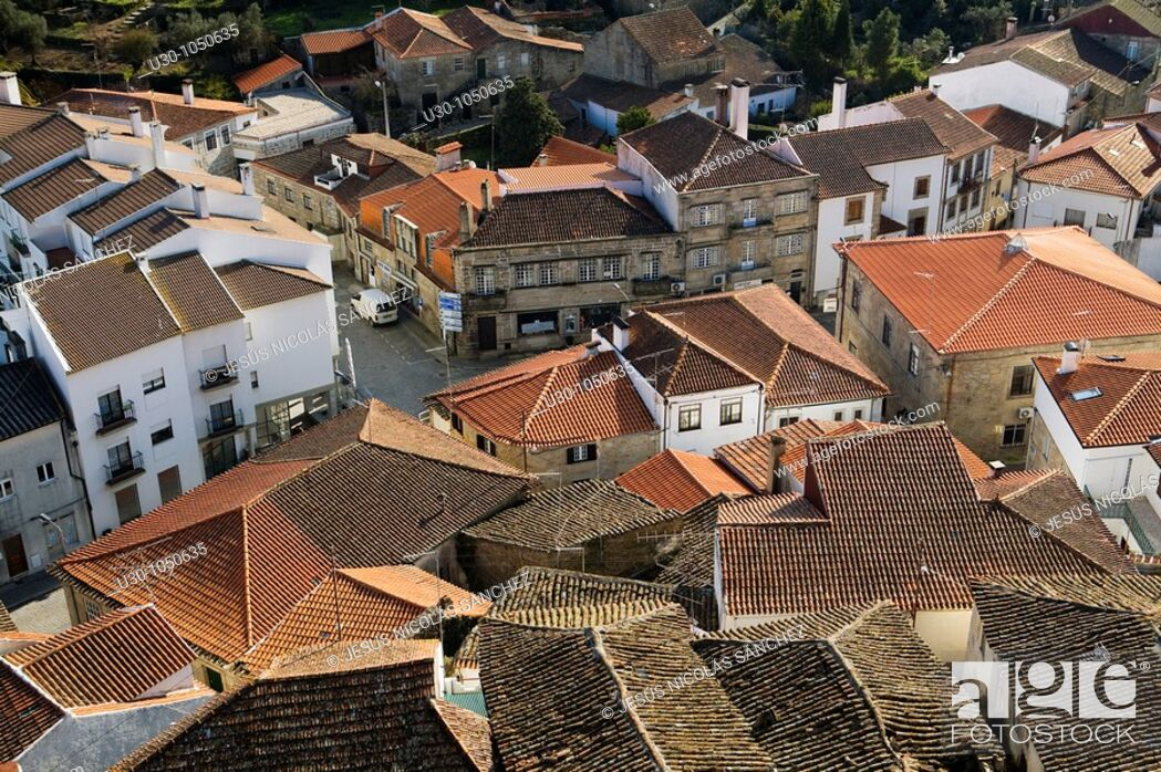 Imagen: Overview of Celorico da Beira village from the castle, in Beira Alta  Guarda District  Portugal.