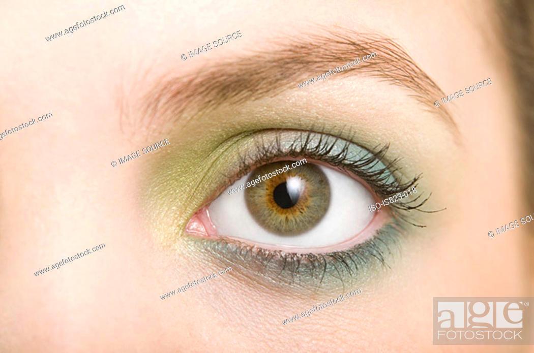 Stock Photo: A woman wearing eyeshadow.