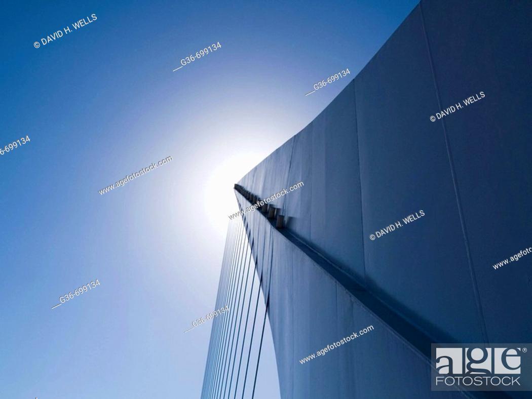 Stock Photo: Santiago Calatrava's Puente De La Mujer (Bridge Of The Woman) in Buenos Aires, Argentina.