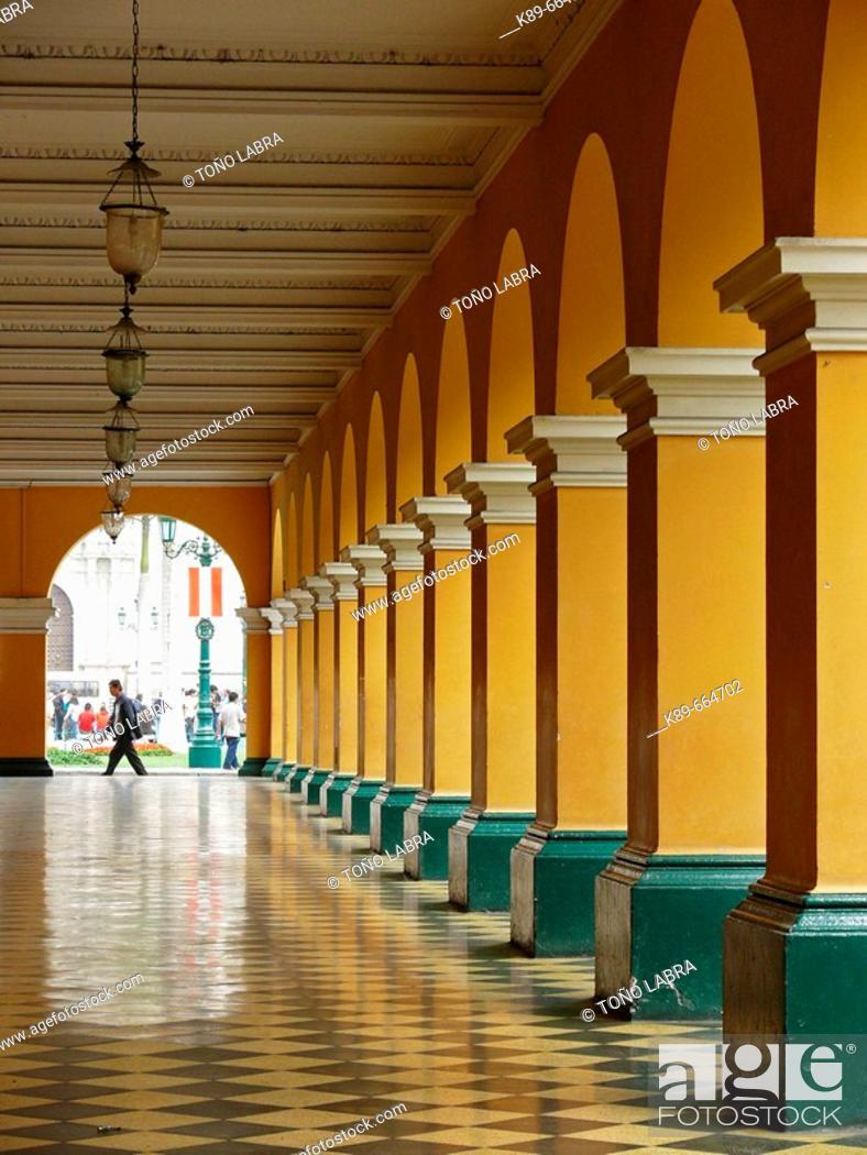 Stock Photo: City Hall. Lima. Peru.