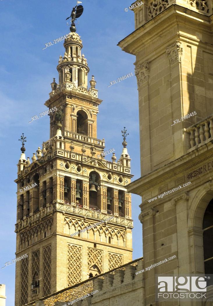Stock Photo: La Giralda. Seville. Andalusia. Spain.