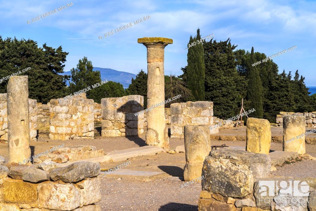 Stock Photo: Greek / Roman archeological site of Ampuries, Girona, Catalonia, Spain.