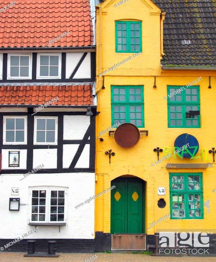 Stock Photo: Department store, warehouse, harbour, Flensburg, Schleswig-Holstein, Germany.
