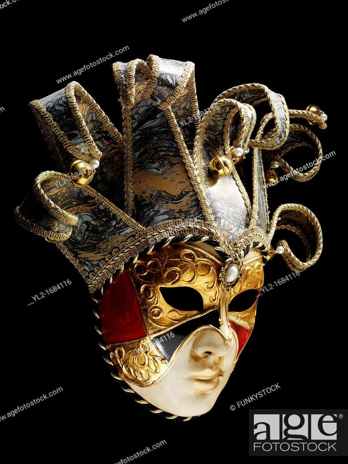Stock Photo: Traditional Venetian carnival mask.