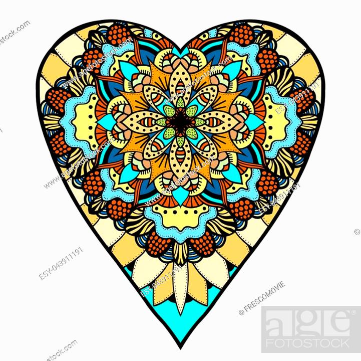 Hearts Zentangle coloring page | Free Printable Coloring Pages | 700x701