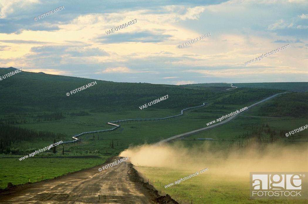 Stock Photo: Landscape In Alaska.
