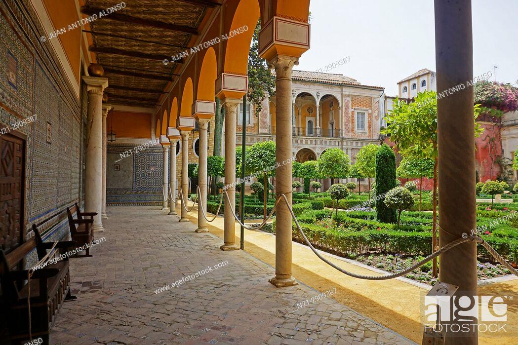 Stock Photo: Casa de Pilatos. Seville, Andalucia, Spain, Europe.