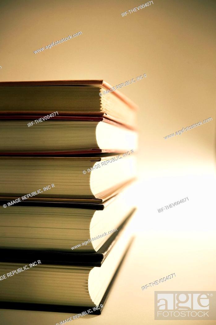Stock Photo: pile of books.